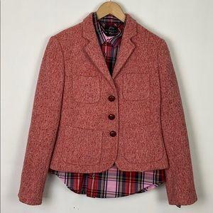 J.Crew 6 Vintage Pink Tweed Blazer